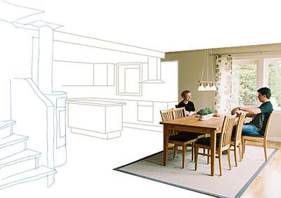 Husritning rita huset själv