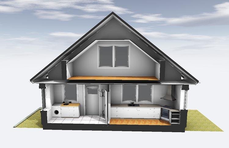 Husmodell övervåning