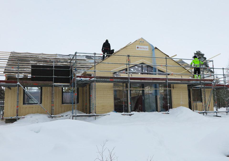 Fördelar med att bygga hus på vintern