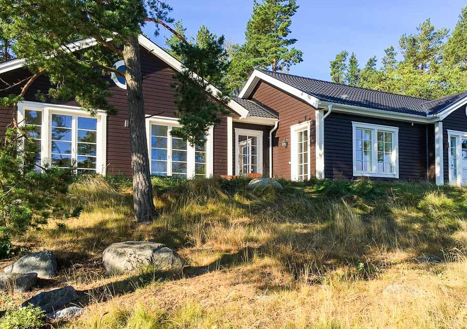 Villa Hestra – hus med spännande form